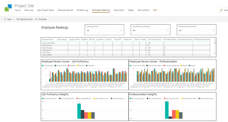 Example Microsoft BI Dashboard Reports