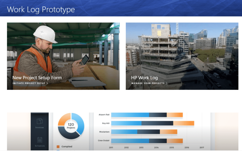 Project Management SharePoint Home Page